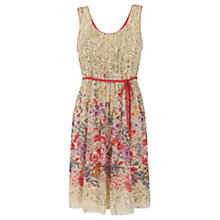 Buy Warehouse Floral Border Print Dress, Multi Online at johnlewis.com