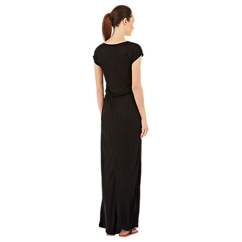 Buy Warehouse Satin Pocket Maxi Dress, Black Online at johnlewis.com
