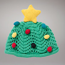 Buy John Lewis Baby Christmas Tree Hat, Green Online at johnlewis.com