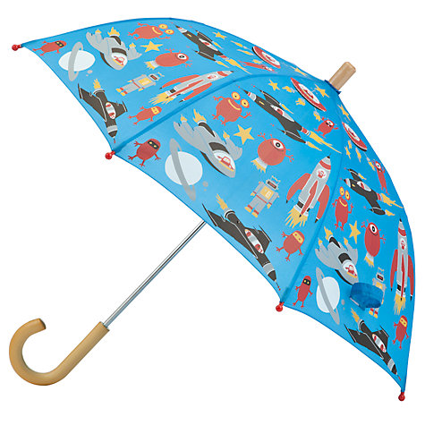 Buy Hatley Space Umbrella, Blue/Multi Online at johnlewis.com