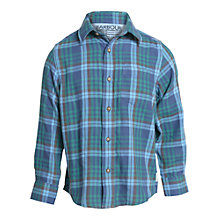 Buy Barbour Boys' Fremont Long Sleeve Check Shirt, Navy Online at johnlewis.com