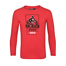 Buy Barbour Boys' Run Beacon Long Sleeve Top, Red Online at johnlewis.com