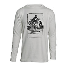 Buy Barbour Boys' Run Long Sleeved T-Shirt, Grey Online at johnlewis.com