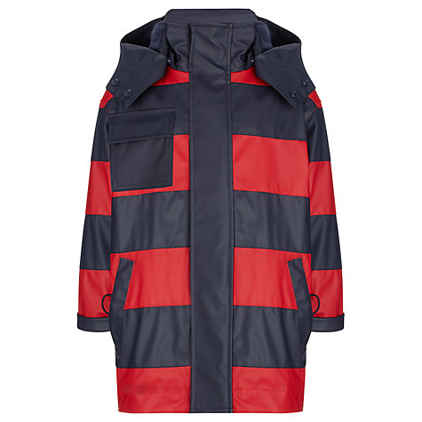 Buy Hatley Boys' Splash Stripe Jacket, Red/Navy Online at johnlewis.com