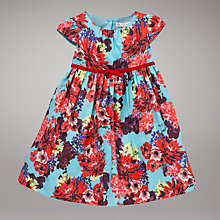Buy John Lewis Chrysanthemum Dress, Turquoise/Red Online at johnlewis.com
