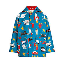 Buy Hatley Boys' Spaceships Raincoat, Blue Online at johnlewis.com