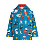 Hatley Boys' Spaceships Raincoat, Blue