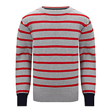 Buy Ben Sherman Boys' Stripe Jumper, Grey/Red Online at johnlewis.com