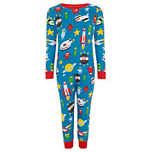 Buy Hatley Boys' Spaceship Print Pyjamas, Blue/Multi Online at johnlewis.com