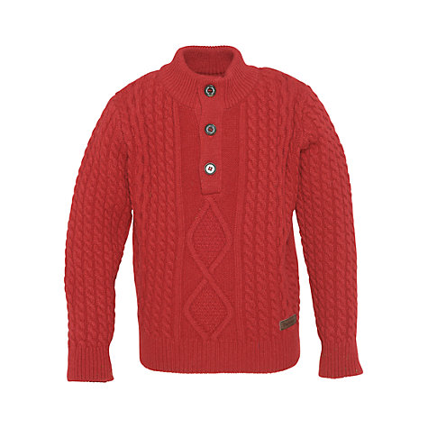 Buy Barbour Boys' Kirkham Jumper, Red Online at johnlewis.com