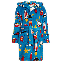 Buy Hatley Boys' Spaceships Robe, Blue Online at johnlewis.com