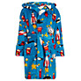 Hatley Boys' Spaceships Robe, Blue