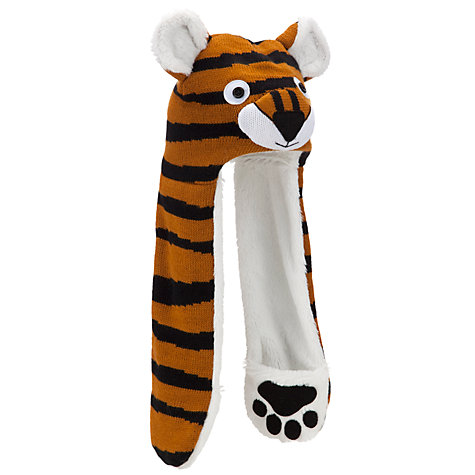 Buy John Lewis Boy Tiger Hooded Scarf, Orange Online at johnlewis.com
