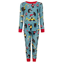 Buy Hatley Boys' Bears at Work Pyjamas, Blue Online at johnlewis.com