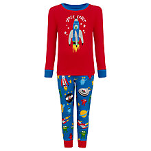 Buy Hatley Boys' Space Cadet Pyjamas, Red/Blue Online at johnlewis.com
