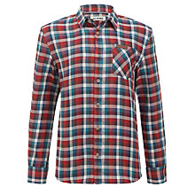 Buy Ben Sherman Boys' Long Sleeve Checked Shirt, Red/Multi Online at johnlewis.com