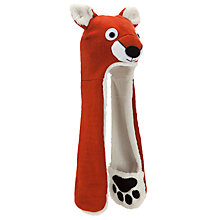 Buy John Lewis Boy Fox Hooded Scarf, Brown Online at johnlewis.com