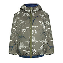 Buy Hatley Boys' Reversible Dino Padded Jacket, Green/Multi Online at johnlewis.com