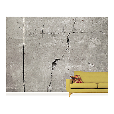 Surface View Cracked Concrete Wall Mural, 360 x 265cm