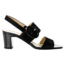 Buy Hobbs London Ellie Sandal, Black Online at johnlewis.com
