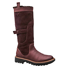 Buy J Shoes Husky Faux-Fur Lined Calf Boots, Oxblood Online at johnlewis.com
