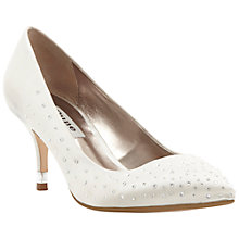 Buy Dune Bridal Diamante Embellished Satin Court Shoes, Neutral Online at johnlewis.com