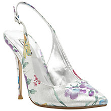 Buy Dune Dearest Floral Sling Back Court Shoes, Multi Online at johnlewis.com