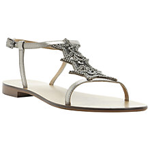 Buy Dune Karry Embellished Sandals, Pewter Online at johnlewis.com