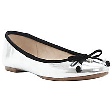 Buy Dune Magnify Ballerina Style Pumps, Silver Online at johnlewis.com