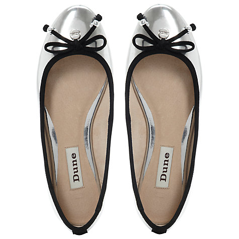 Buy Dune Magnify Mirrored Bow Trim Ballerina Pumps Online at johnlewis.com