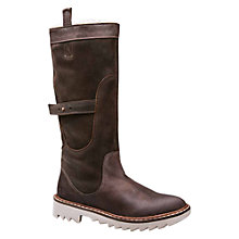 Buy J Shoes Husky Faux-Fur Lined Calf Boots, Brown Online at johnlewis.com