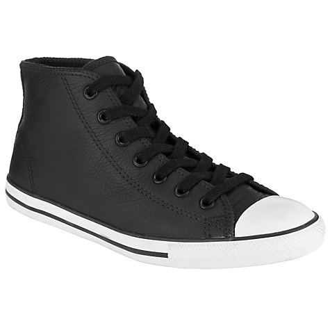 Buy Converse Chuck Taylor All Stars Mid-Top Leather Trainers Online at johnlewis.com