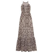 Buy Mint Velvet Eva Halter Maxi Dress, Mocha Online at johnlewis.com