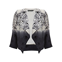 Buy Mint Velvet Anisa Print Jacket, Ivory / White Online at johnlewis.com
