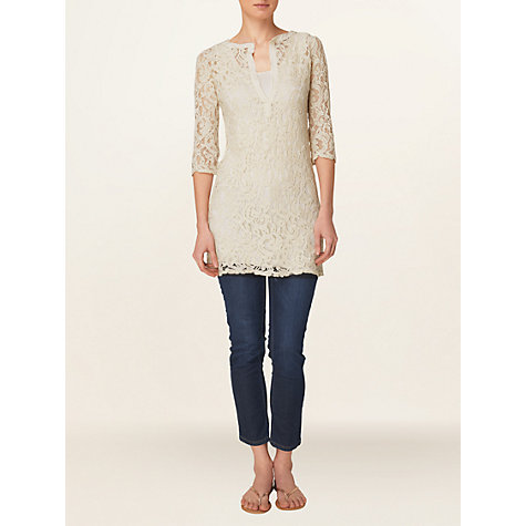 Buy Phase Eight Made in Italy Amelia Lace Tunic Dress, Ivory Online at johnlewis.com