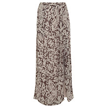 Buy Mint Velvet Eva Print Wrap Maxi Skirt, Mocha Online at johnlewis.com