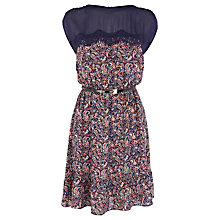 Buy Warehouse Ditsy Print Lace Dress, Multi Online at johnlewis.com