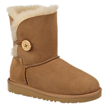 Buy UGG Children's Bailey Button Boots, Chestnut Online at johnlewis.com