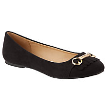 Buy John Lewis Girl Joan Fringed Bar Ballet Pumps, Black Online at johnlewis.com