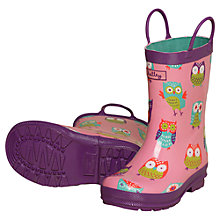 Buy Hatley Party Owls Wellington Boots Online at johnlewis.com
