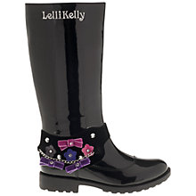 Buy Lelli Kelly Bella Boots, Black Patent Online at johnlewis.com