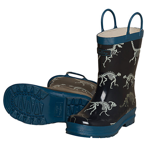 Buy Hatley Dinosaur Wellington Boots, Navy Online at johnlewis.com