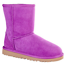Buy UGG Kids Classic Sheepskin Short Boots, Electric Violet Online at johnlewis.com
