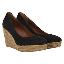 Buy Mint Velvet Suede Espadrilles, Black Online at johnlewis.com