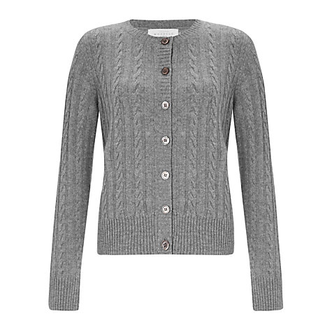 Buy Collection WEEKEND by John Lewis Cashmere Cable Knit Crew Neck Cardigan Online at johnlewis.com