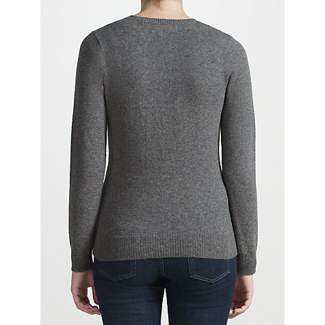 Buy Collection WEEKEND by John Lewis Snowflake Jumper, Grey/Orange Online at johnlewis.com