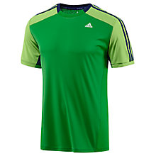 Buy Adidas Clima 365 T-Shirt, Green Online at johnlewis.com