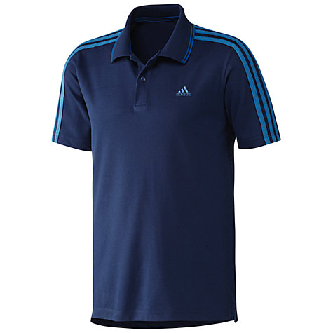Buy Adidas Essentials 3 Stripe Polo Shirt Online at johnlewis.com