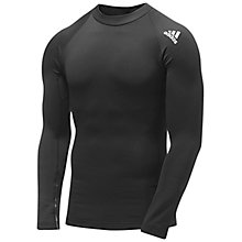 Buy Adidas Hollow Long Sleeve Top, Black Online at johnlewis.com