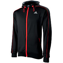 Buy Adidas Hollow Hooded Jacket, Black Online at johnlewis.com